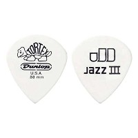 JIM DUNLOP TORTEX PITCH WHITE JAZZ III 0.73×12枚ピック