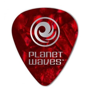 Planet Waves by D'Addario プラネットウェーブス ピック 1CRP4-25 Celluloid Red Pearl 0.70mm スタンダード型 25枚入り 【国内正規品】