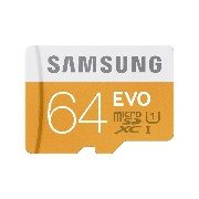 Samsung Evo 64GB Micro SD Memory Card Ultra Class 10 SDXC up to 48MB/s with Adapter