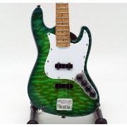 [Musical Story] ミニチュア ベースギターJazz Bass Quilted Maple Top Caribbean Blue Trans スタイル