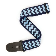 Planet Waves by D'Addario プラネットウェーブス ギターストラップ Chevron Woven Guitar Strap T20S1505 Blue and Navy ...