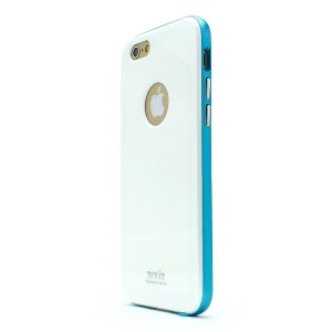 iPhone6 ケース Tryit Slim Fit Case Metalic Series (White×Blue) for iPhone6 スリムケース アイフォン6