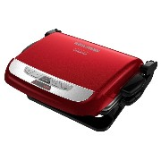 George Foreman ジョージフォアマン GRP4800R 4-in-1 Evolve Grill, Red グリル[並行輸入]
