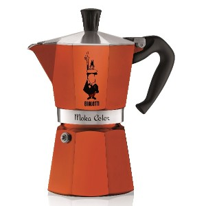【並行輸入】Bialetti 06906 6-Cup Espresso Coffee Maker, Orange コーヒーメーカー