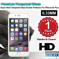 iPhone 6/6s Premium Tempered Glass Screen Protector (1 Pack) 3D Touch Super Hard 0.33mm By Jimkev 2...