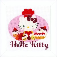 "Vervaco ""Hello Kitty Pie Baking"" Cross Stitch Kit by Vervaco [並行輸入品]"