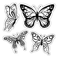 "Inkadinkado Cling Stamps 4""X4"" Sheet-Butterflies (並行輸入品)"