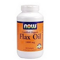 海外直送品 Now Foods Organic Flax Oil, 100 Sgels 1000 mg