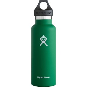 Hydro Flask ハイドロフラスク Stainless Steel Water Bottle Standard Mouth w/Loop Cap [並行輸入品] (Forest, 18...