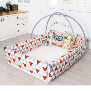 Maming Baby Bumper Bed 赤ちゃんのバンパーベッド 様々な活用性 [並行輸入品] (Triangle )