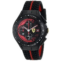 フェラーリ Ferrari Men's 0830077 Race Day Chronograph Black Rubber Strap Watch [並行輸入品]