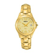 SEIKO Gold Color Ladies Solar Watch with Date SUT236P1 《逆輸入品》