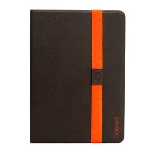 Colorant Book Cover for iPad Air - Gray - 自由な角度で調節可能なスタンド手帳型レザーケース - 日本正規流通品 - BC501
