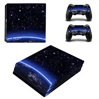 Zhhlinyuan Full Body スキンステッカー Vinyl Decal Cover for PlayStatio PS4 Pro Console+Controllers