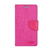 iPhone 6 Plus ケース Mercury Goospery Canvas Diary Case アイフォン 6 プラス 手帳型 ケース ピンク・ピンク(Pink/Pink) / 携帯 ...