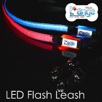 【L'ange】 LED フラッシュ リード XLサイズ 【LED Flash Pet Leash】 LED Item Collection XLサイズ-ピンク