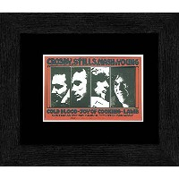Crosby Stills Nash and Young - Winterland 13th-16th November 69 Framed Mini Poster - 20x18cm