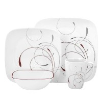 Corelle Square 16-Piece Dinnerware Set, Splendor, Service for 4 [並行輸入品]