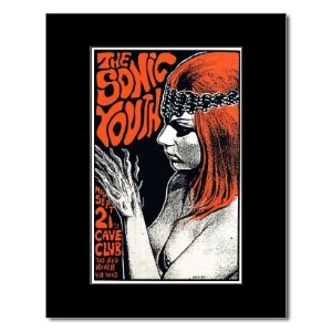 SONIC YOUTH - Cave Club Austin Tx 1987 Mini Poster - 22.2x14.2cm