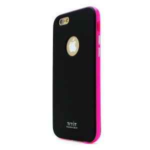 iPhone 6s ケース Tryit Slim Fit Case Neon Series (Black×Hot Pink) for iPhone6s アイフォン6s