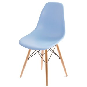 UNE BONNE(ウネボネ) EAMES CHAIR(イームズチェア) イームズ デザイナーチェア 椅子 ダイニングチェア ライトブルー