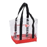 Rough Enough 透明 赤い ビニール トートバッグ ビーチ バッグ Clear Transparent Tote Beach Bag