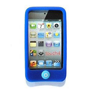 Msfort iPod Touch 4【第4世代】シリコンケース iPod Touch 4 Silicone Case (ブルー)