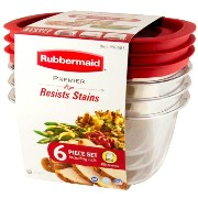Rubbermaid ラバーメイド Resists Stains 3.3L×3個 6ピース 保存容器 タッパー お弁当箱 プレミア PREMIER BPA FREE アメリカ製