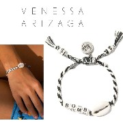 NY発(VenessaArizagaヴェネッサアリザガ)FRIENDSHIP BRACELETS(BOMBSHELL BRACELET (BLACK AND WHITE)VA20-2032 ...
