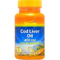 海外直送品Cod Liver Oil, 800 mg, 60 softgels by Thompson