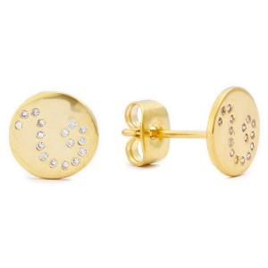 [ゴリアナ] gorjana-griffin Astrology Shimmer Disc Earrings - Leo スタッドタイプ(ピアス) 1211-005LE-02-G
