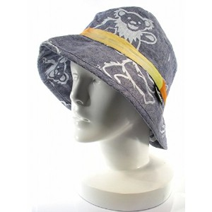 WILD THINGS ワイルドシングス DEAD BEAR CHAMBRAY HAT Color:WHITE PRINT Size:ONE