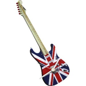 Lark Rise Designs Wooden Clock(クロック)・時計 Union Jack Guitar LRC21
