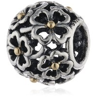 Genuine Sterling Silver and Gold PANDORA Charm ref: 791373