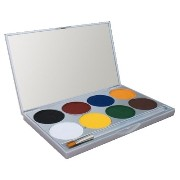 mehron Paradise Makeup AQ - 8 Color Palette - Basic (並行輸入品)