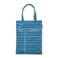 【Out of Print】 Library Card Tote Bag (Blue Denim)