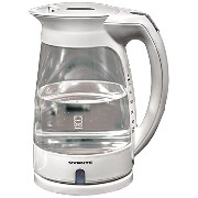 Ovente KG82W Glass Electric Kettle, 1.7-Liter, White by Ovente