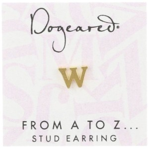 [ドギャード] DOGEARED from a to z earring, GD, little W V3GGZ00212204