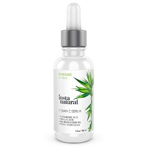 InstaNatural Vitamin C Serum 20% For Face - With Hyaluronic Acid, Ferulic Acid, Rosehip Oil,...
