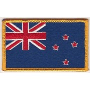 The Flag NEW ZEALAND PATCH, Superior Quality Iron-On / Saw-On Embroidered Patch - Each one is...
