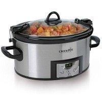 【並行輸入】電気料理鍋 Crock-Pot SCCPVL610-S 6-Quart Programmable Cook & Carry Oval Slow Cooker, Stainless...