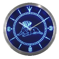LEDネオンクロック 壁掛け時計 nc0410-b Mastiff Dog Pet Shop Bar Beer Neon Sign LED Wall Clock