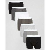 ASOS エイソス Trunks In Monochrome 7 Pack SAVE 31%