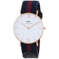 ダニエルウェリントン Daniel Wellington Unisex 0551DW Stainless Steel Watch With Striped Canvas Band [並行輸入品]