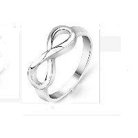 Silver Plated Infinity Quality Ring Love knot Exquisite Ring for Women (size 14)