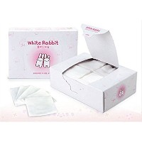 White Rabbit Plain Type Natural Cotton Cosmetic Tissue 2Box (100pcs x 2box) / ホワイトラビットプレーンタイプナチュラルコッ...