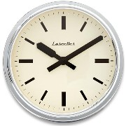 ロジャーラッセルRogerLascelles社製 Deep Retro Chrome Wall Clock 36cm掛け時計 RETRO-LONDON-CHROME