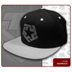 TRIBAL STREET WEAR スナップバック キャップ【T-STAR SNAP BACK】 BLACK/GREY