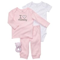 Carter's(カーターズ) I heart mommy ギフトセット(Pink) 3M [並行輸入品] [Baby Product]