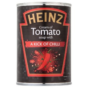 Heinz Cream of Tomato Soup with a Kick of Chilli 12 x 400g ハインツ クリーム トマト スープ チリフレーバー 400g